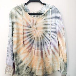 Dreamsicle tie dye hoodie sweatshirt